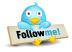"""Follow me!"" Twitter button"